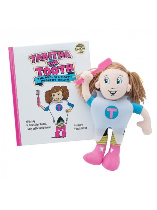 Model de studiu Tabitha si carticica ABC-ul gurii sanatoase