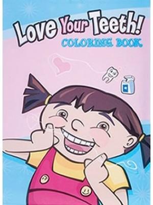 Carticica colorat  Love Your Teeth