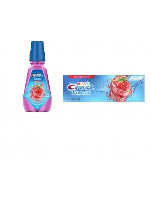 Set igiena dentara copii Crest Strawberry Rush
