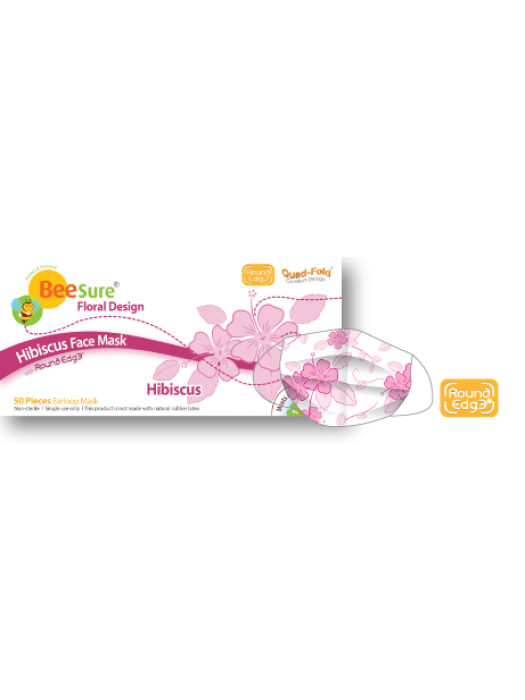 STOC ZERO  Masti de protectie BeeSure SUA design floral roz