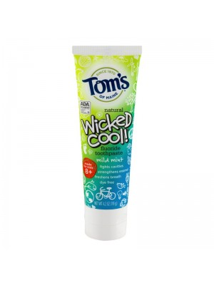 Pasta de Dinti Copii Tom's of Maine Wicked Cool cu Fluor 119gr