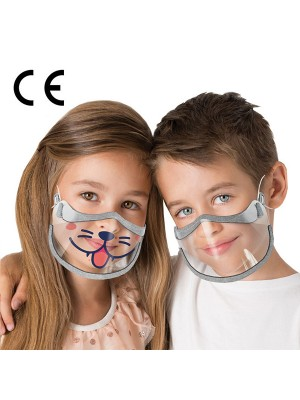 Masca transparenta pentru copii 2 buc/set