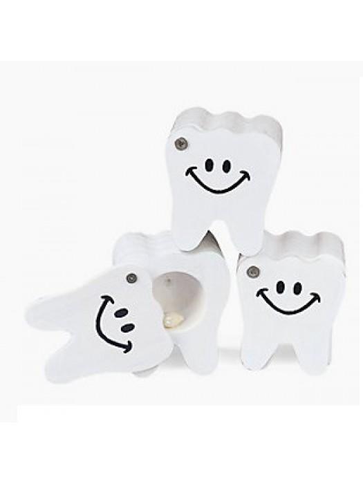 Cutiute din lemn pentru dintisorii de lapte