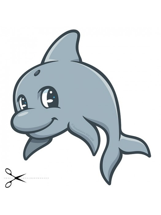 Autocolant Dolphin 43cm/45cm