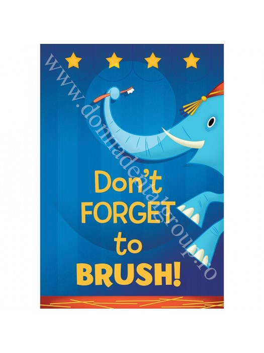 Poster Don't FORGET to BRUSH!
