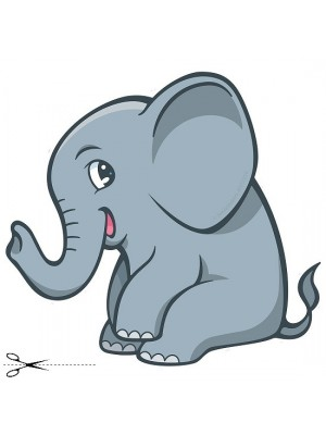 Autocolant Elephant 40cm/40cm