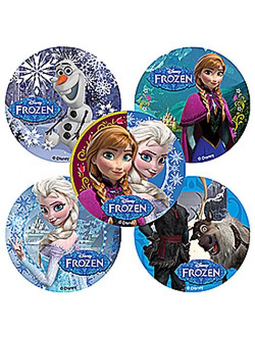 Abtibilduri Frozen round set 20buc