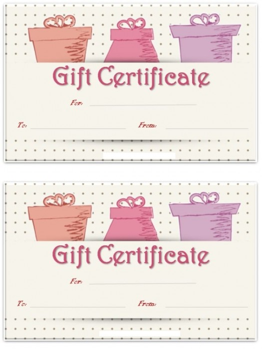 Gift certificate 3B  10buc/set
