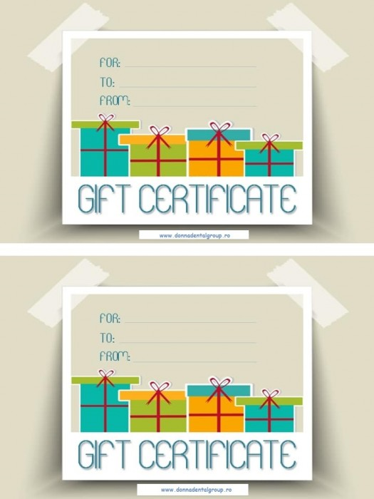 Gift certificate Pins 10buc/set