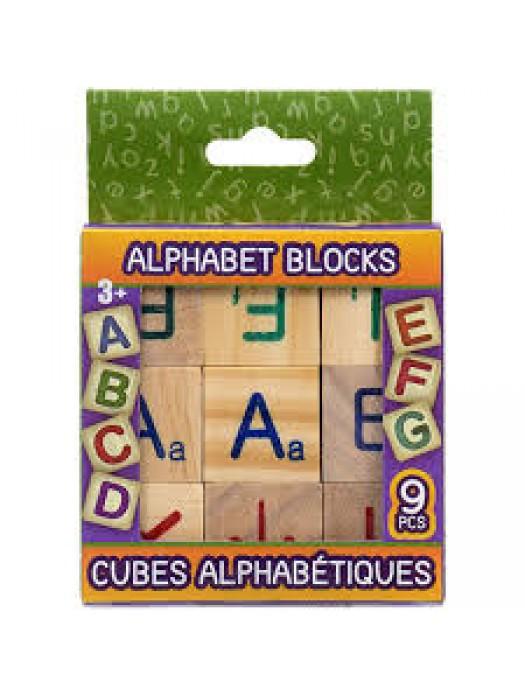 Cuburi alfabetice din lemn set/9buc
