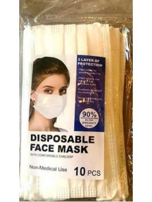 Masti de protectie Transparent Pak SUA 10buc/set