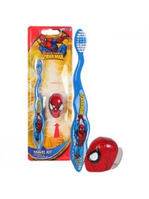 Periuta de Dinti pentru Copii - Spiderman cu Capac si Ventuza