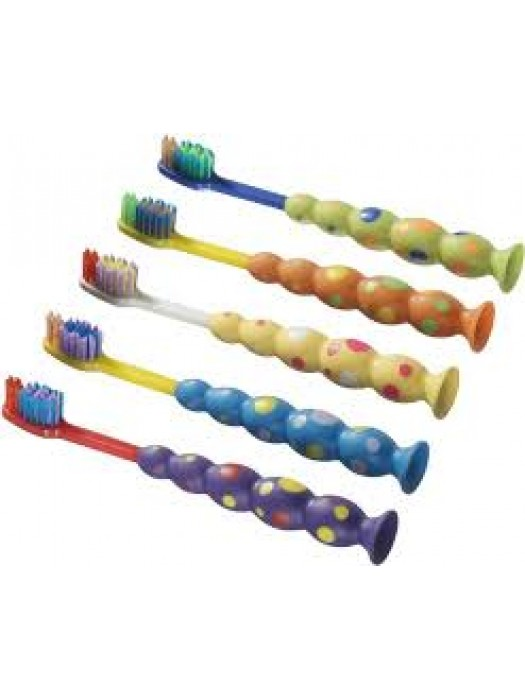 Periute de dinti cu ventuza copii 4-7 ani   10buc/set