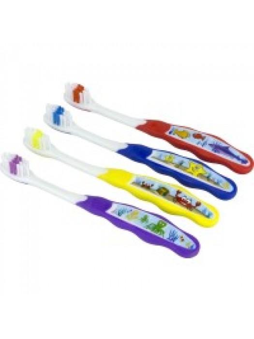 Periute de dinti copii 3-5 ani super soft Prietenii Oceanelor 10buc/set