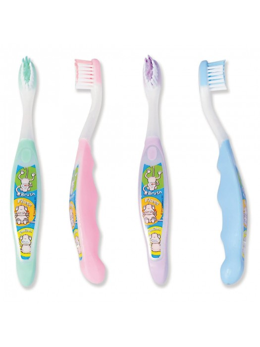 Periute de dinti Brush Floss Monkey 2-5 ani